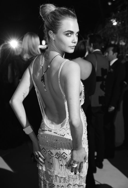 Cara Delevingne in Roberto Cavalli dress - 67th Cannes Film Festival