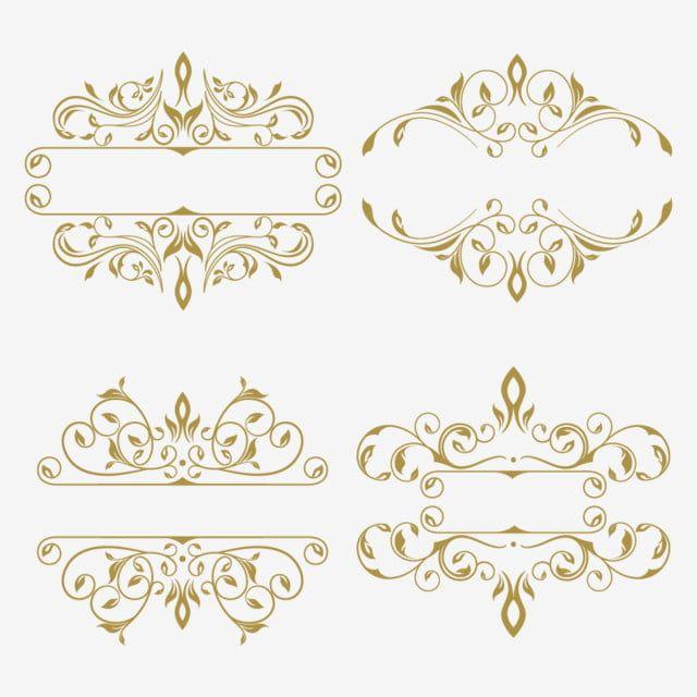 Vintage Gold Luxury Frame Ornament Brand Card Invitation Elegant Decoration Swirl Retro Royal Emblem Brandi Ornament Frame Gold Clipart Floral Border Design