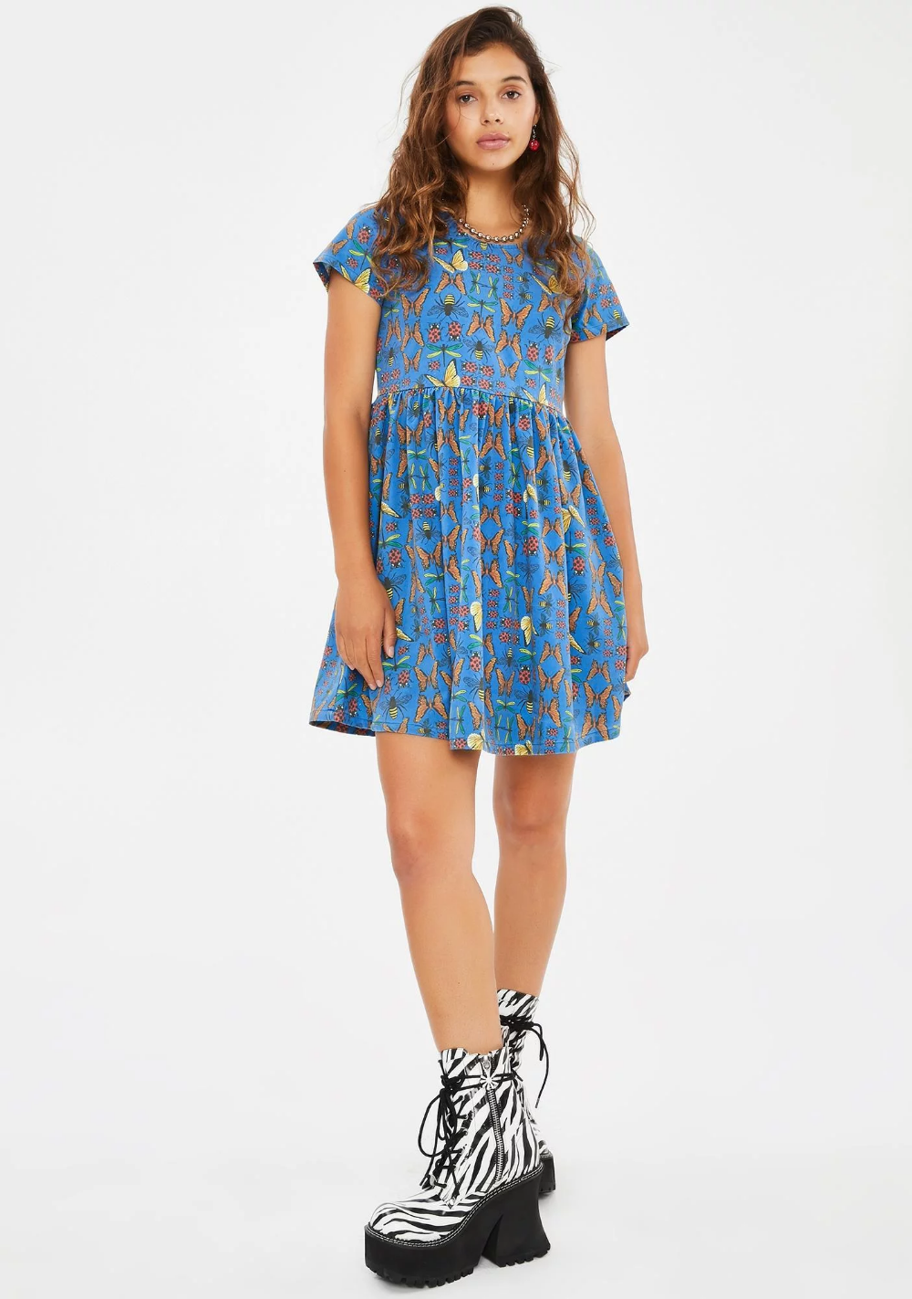 Buzz Off Babydoll Dress Dresses Babydoll Dress Constellation Dress [ 1423 x 1000 Pixel ]