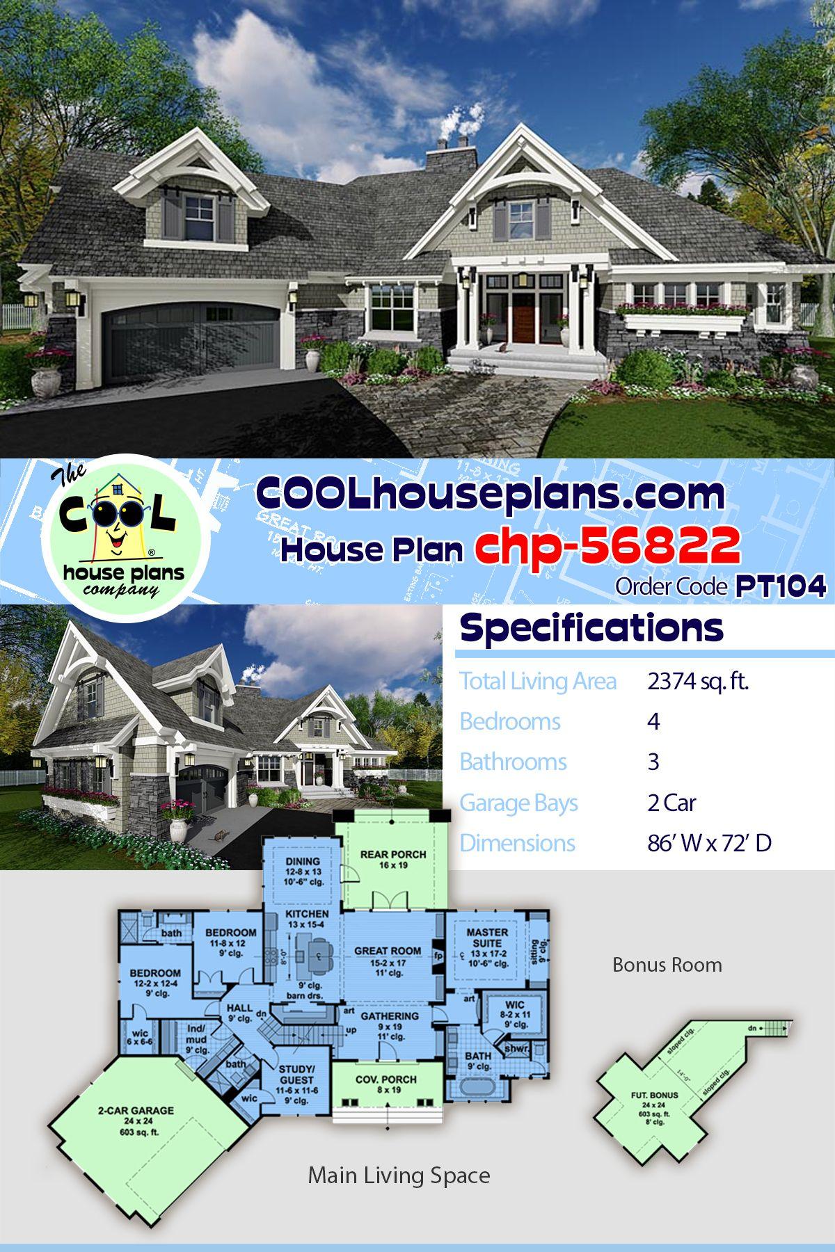 Tudor Style House Plan 42678 With 4 Bed 3 Bath 2 Car Garage Craftsman House Plans House Plans Best House Plans