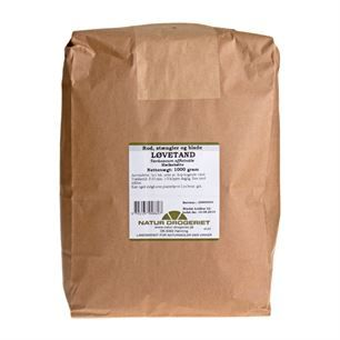 Løvetand mælkebøtte rod, stængler og blade 1 kg 185kr + fragt