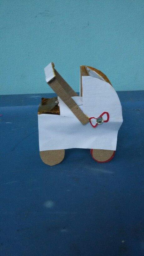 Make your own little standing stroller for pregnant women DIY (made - baby shower nia
