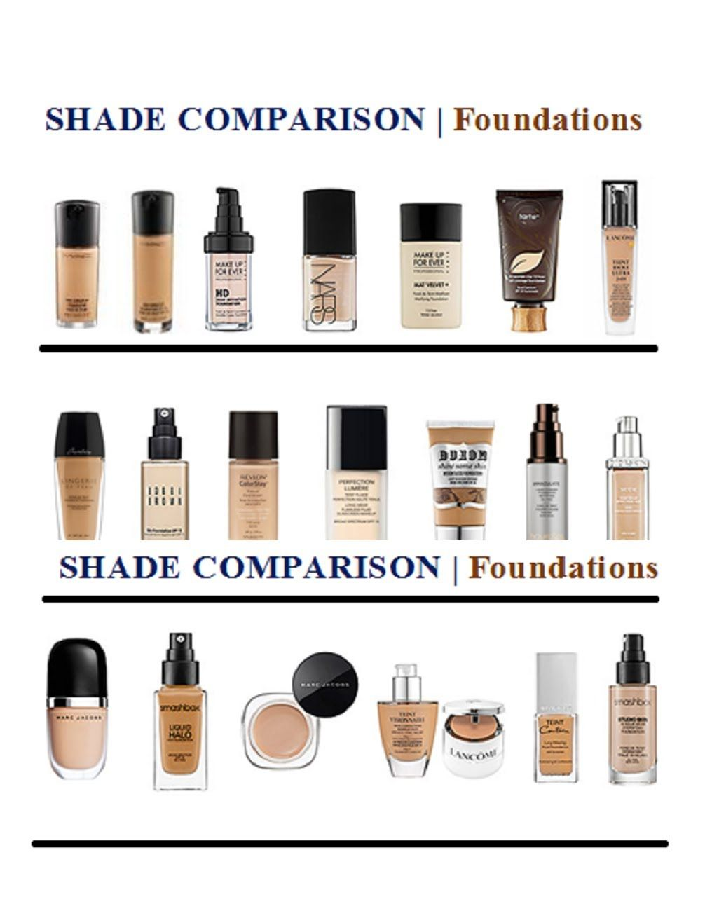 FOUNDATIONS   My SHADE Matches and SWATCHES (for the NC45/44