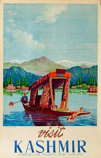 Kashmir, India Original Vintage Travel Poster, 1949#Repin By:Pinterest++ for iPad#