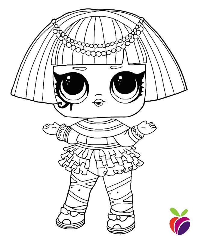 Lol Surprise Sparkle Series Coloring Page Pharaoh Babe Lol Dolls Coloring Pages For Boys Cool Coloring Pages