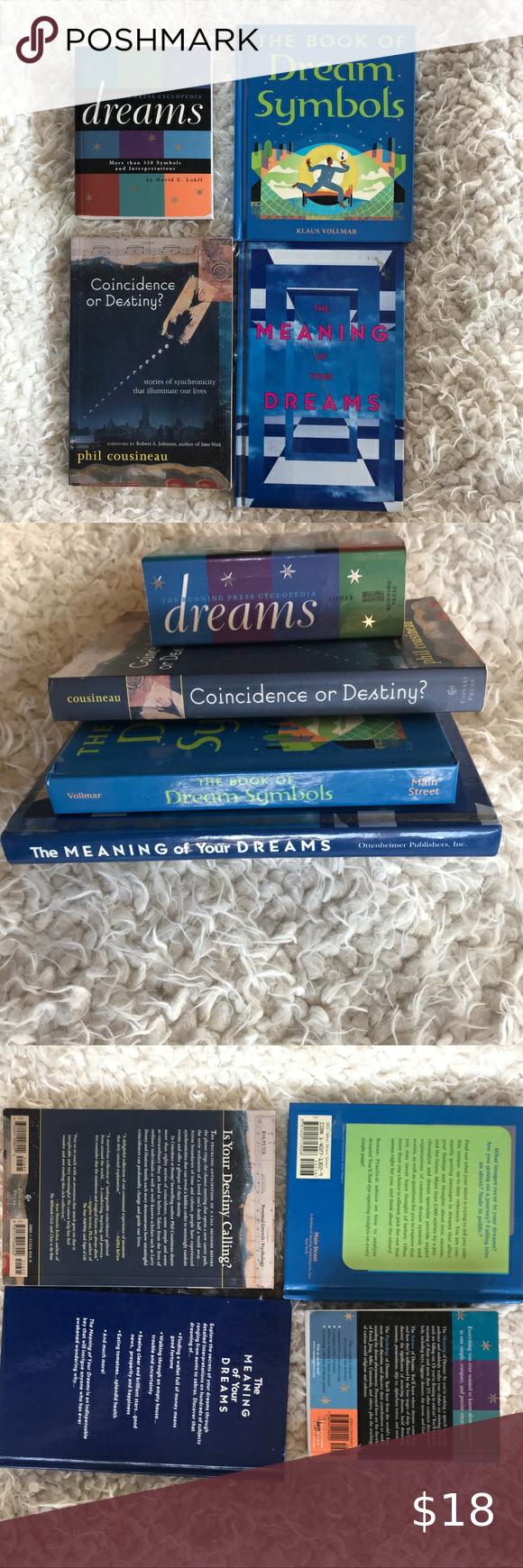 Lot Of 4 Books On Dreams Dream Symbols And Meaning In 2020 Dream Symbols Symbols Coincidences