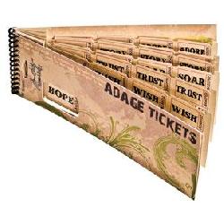 Tim Holtz embellishments: Adage Tickets | Embellishments | Tim Holtz | The Craft Barn | Craft Supplies UK | Art and Craft Supplies UK | England