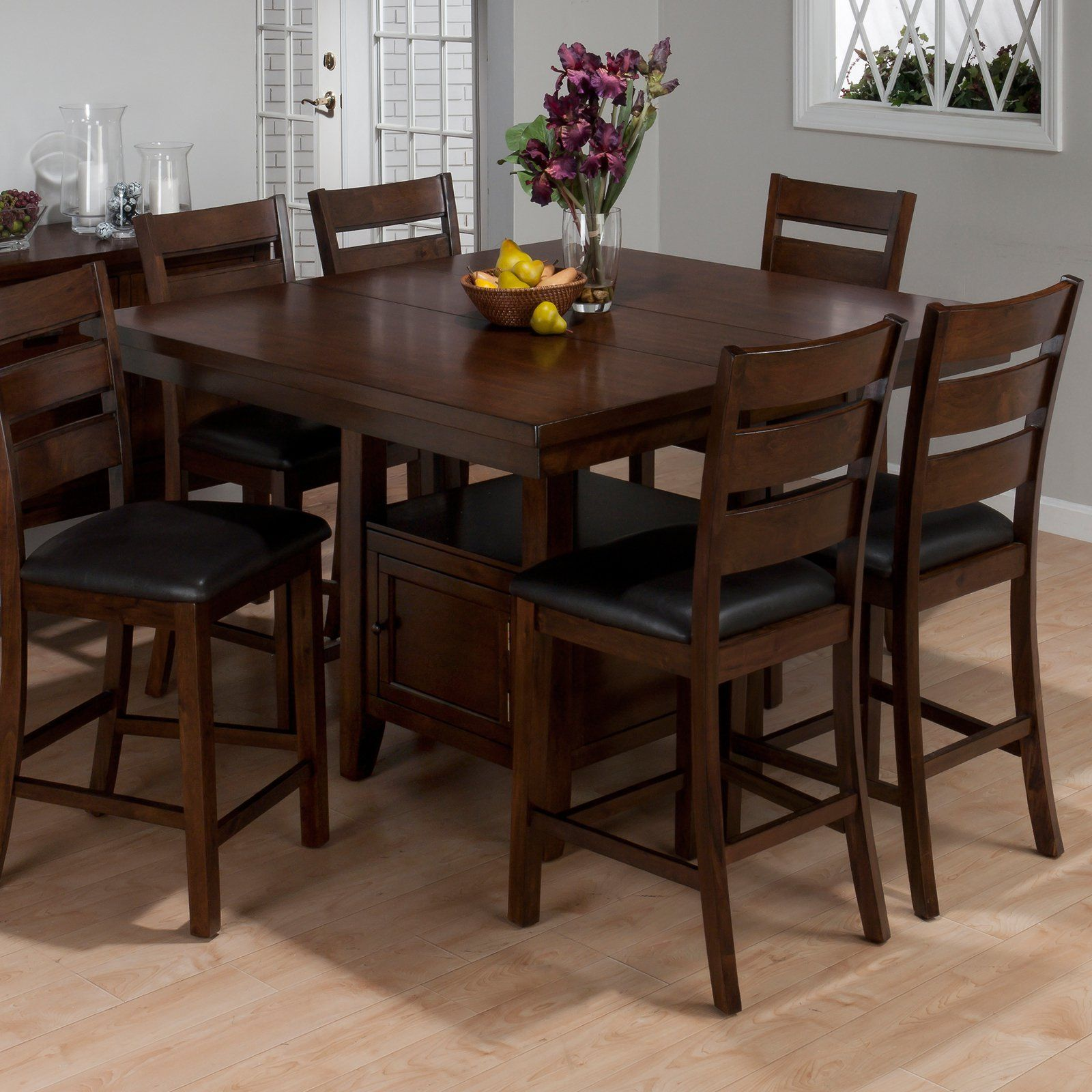 Jofran Taylor Cherry Counter Height Storage Dining Table