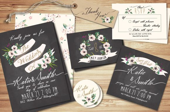 Wedding Invitation Suite Templates Invitation Suite Template And - Wedding invitation templates: wedding invitation suite templates