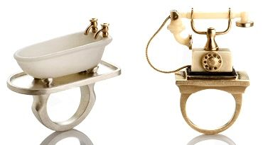 """The """"Tub,""""and """"Ring Ring""""  are all by Monika Krol of Philadelphia."""