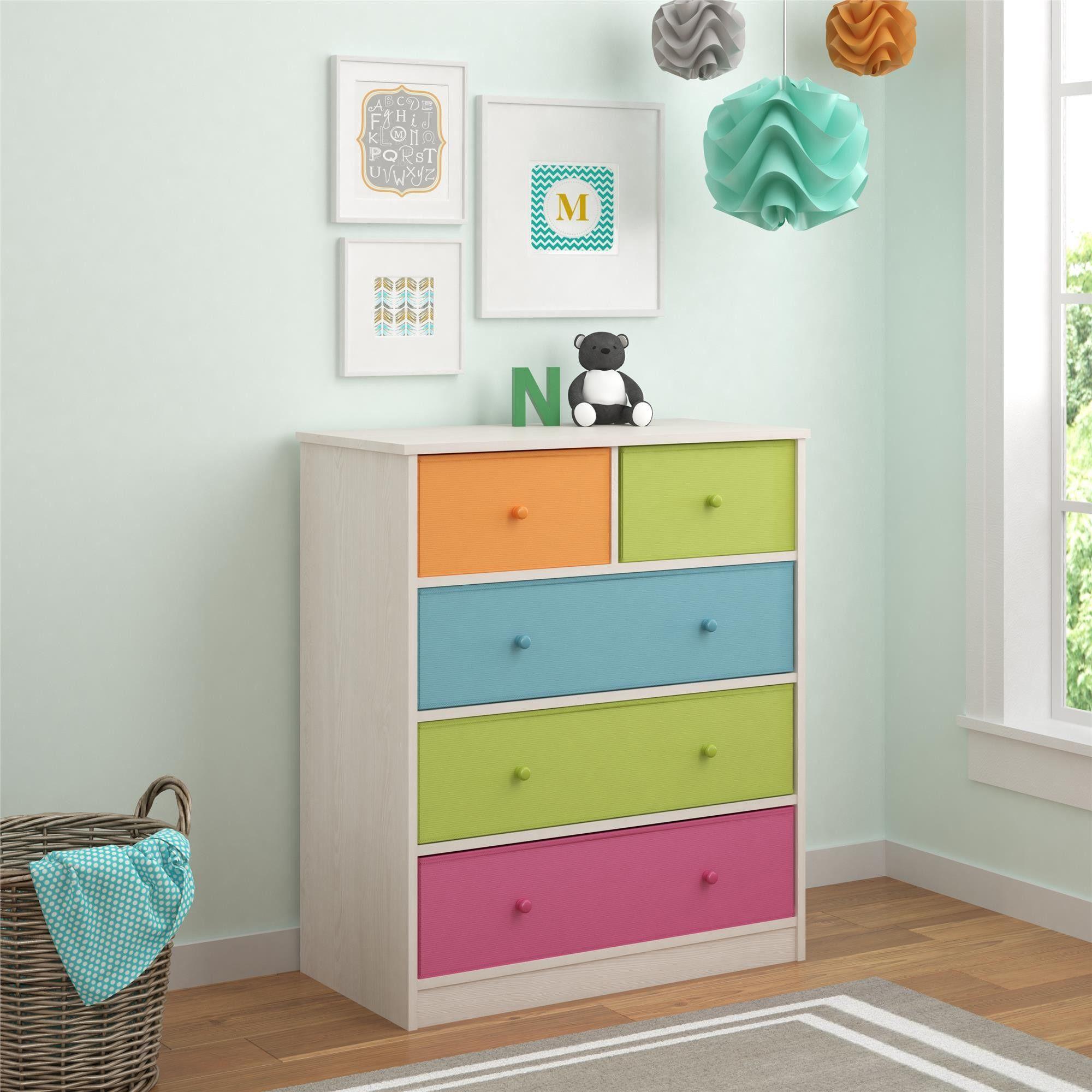 Brooke 5 Drawer Chest Kids Dressers Colorful Dresser Furniture Clearance