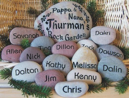 Engraved Rock Garden For Moms Grandmas Rated Best Gift Rock Garden Rock Painting Designs Rock And Pebbles