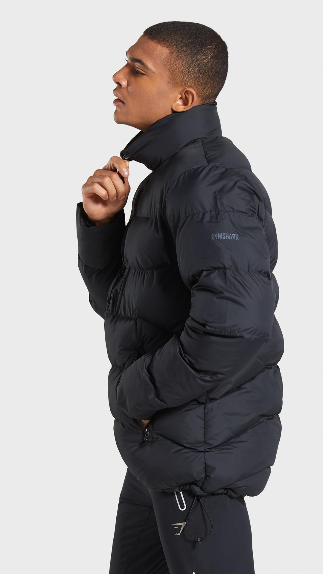 Gymshark Puffer Jacket Black Mens Puffer Jacket Gym Wear Men Puffer Jacket Black [ 1920 x 1080 Pixel ]