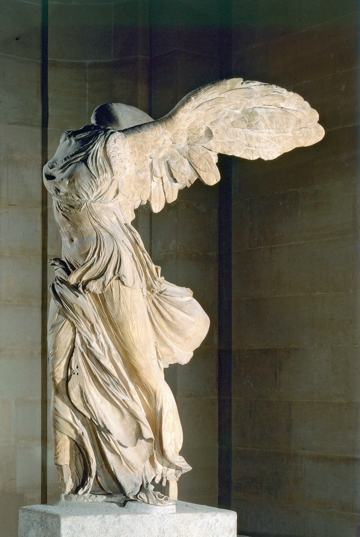 The Louvre - It is the Winged Victory of Samothrace. It's from the second  century BCE, and it represents the Greek god of victory, Nike.