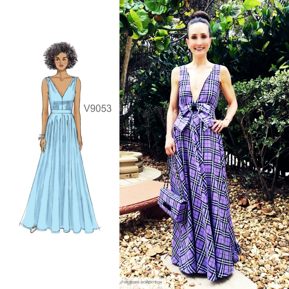 Sew the Look: Deirdre in Vogue Patterns V9053 maxi dress pattern ...