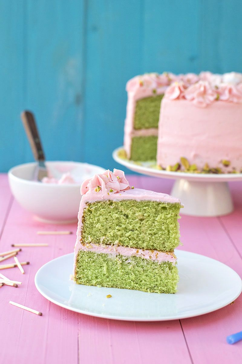Photo of Pistachio cake recipe with rose water frosting