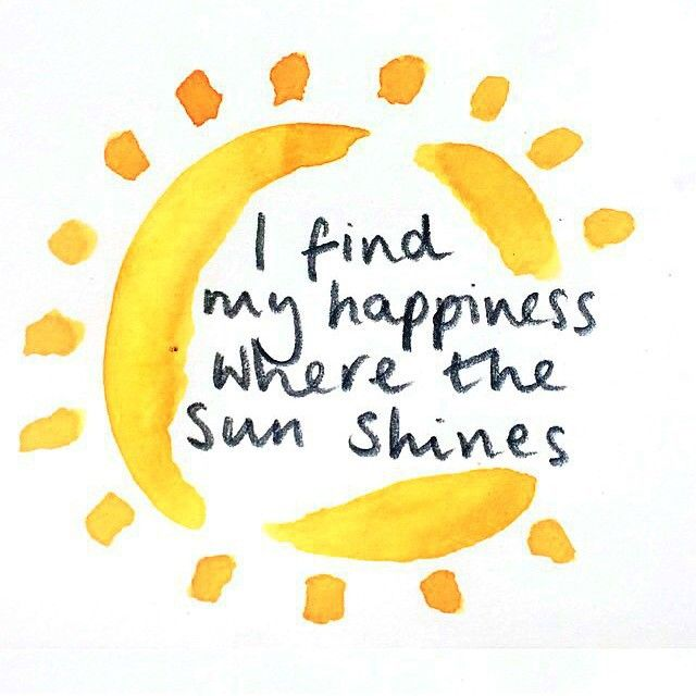 Happiness Sun Quote … | Sunny day quotes, Sunshine quotes ...