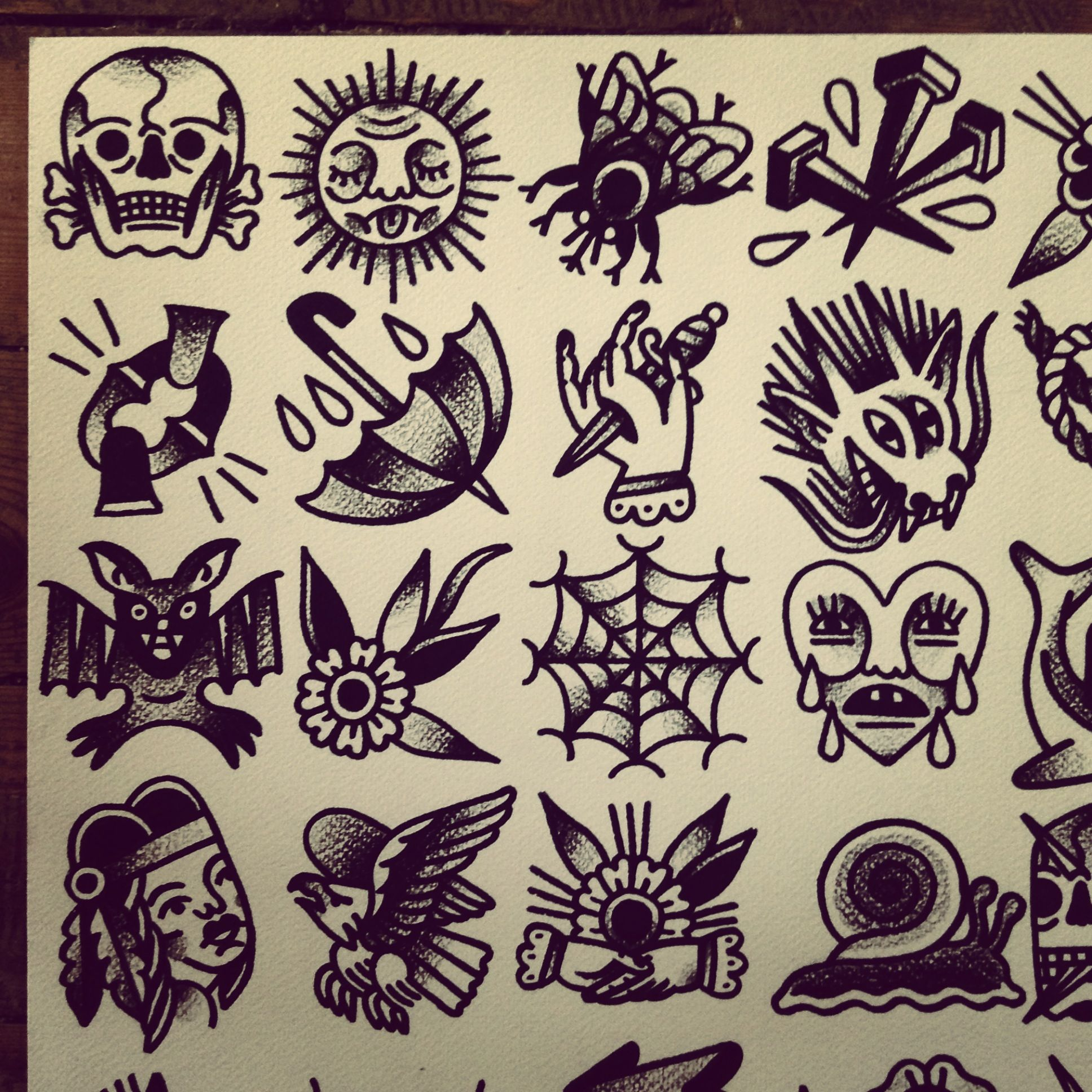 tattoo flash by mr levi netto all designs are 7 x 7 cm 35 tip for appointments mail at. Black Bedroom Furniture Sets. Home Design Ideas