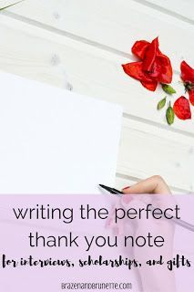How To Write The Perfect Thank You