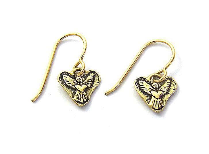 Heart of an Angel Earrings by Jes MaHarry