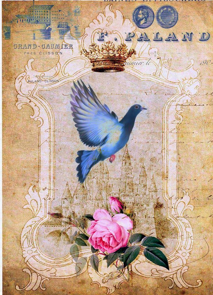 Декупаж. Картинки и мастер-классы. | Старинные птицы ...