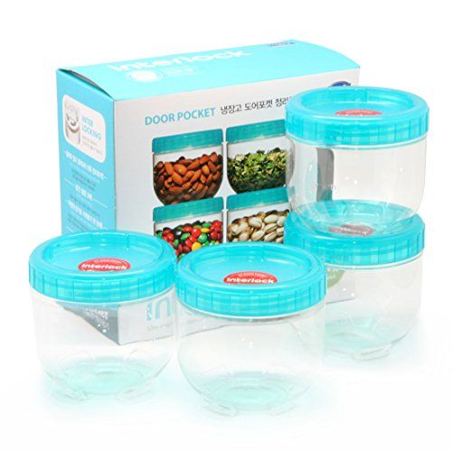 Lock U0026 Lock Refrigerator Door Clean Up Food Storage 4 Container Set  LockandLock Food Container Set