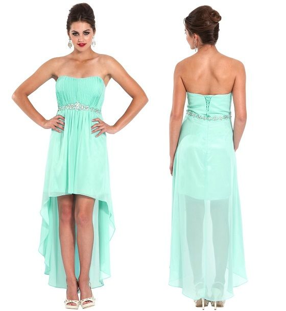 high low bridesmaid dress | ... 2x, 3x mint green junior ...