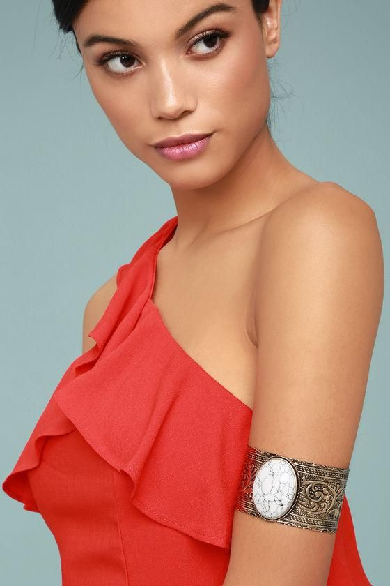 #AdoreWe #Lulus Lulus❤️Designer Womens Goddess Gold and White Cuff Bracelet - AdoreWe.com