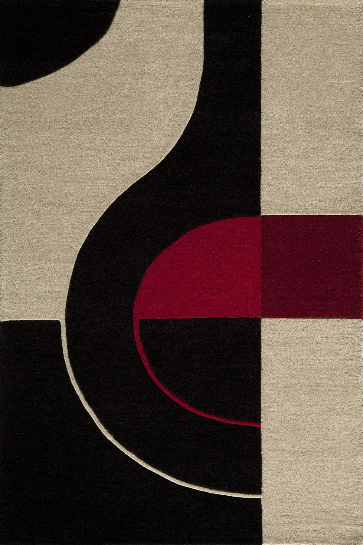Miller Hand Tufted Wool Black Red Area Rug In 2020 Black Area Rugs Black Rug Momeni Rugs