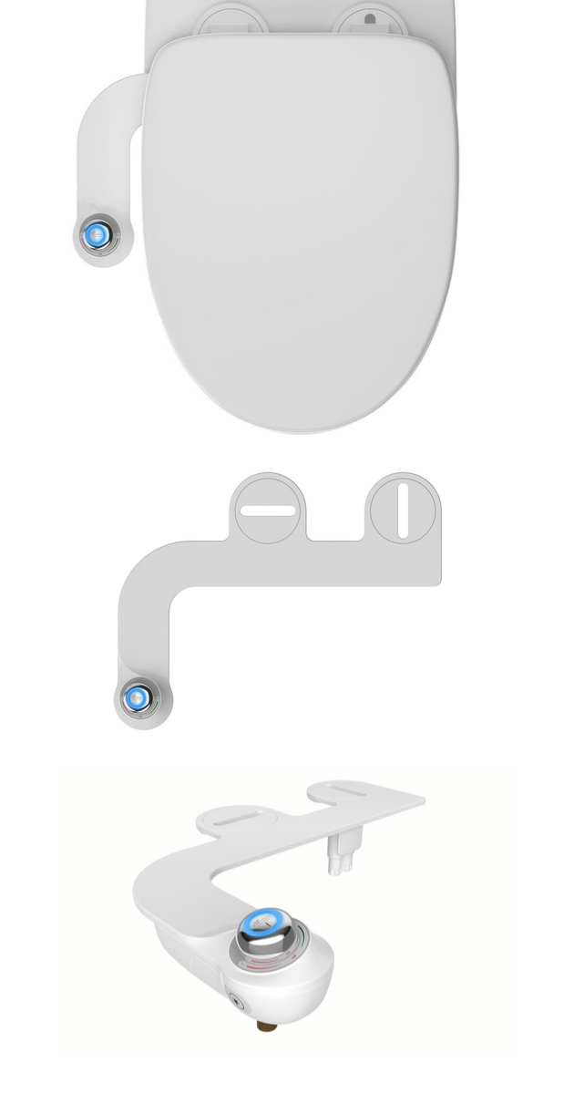 Bidet Attachment with Night Light Slim Glow by Bio Bidet