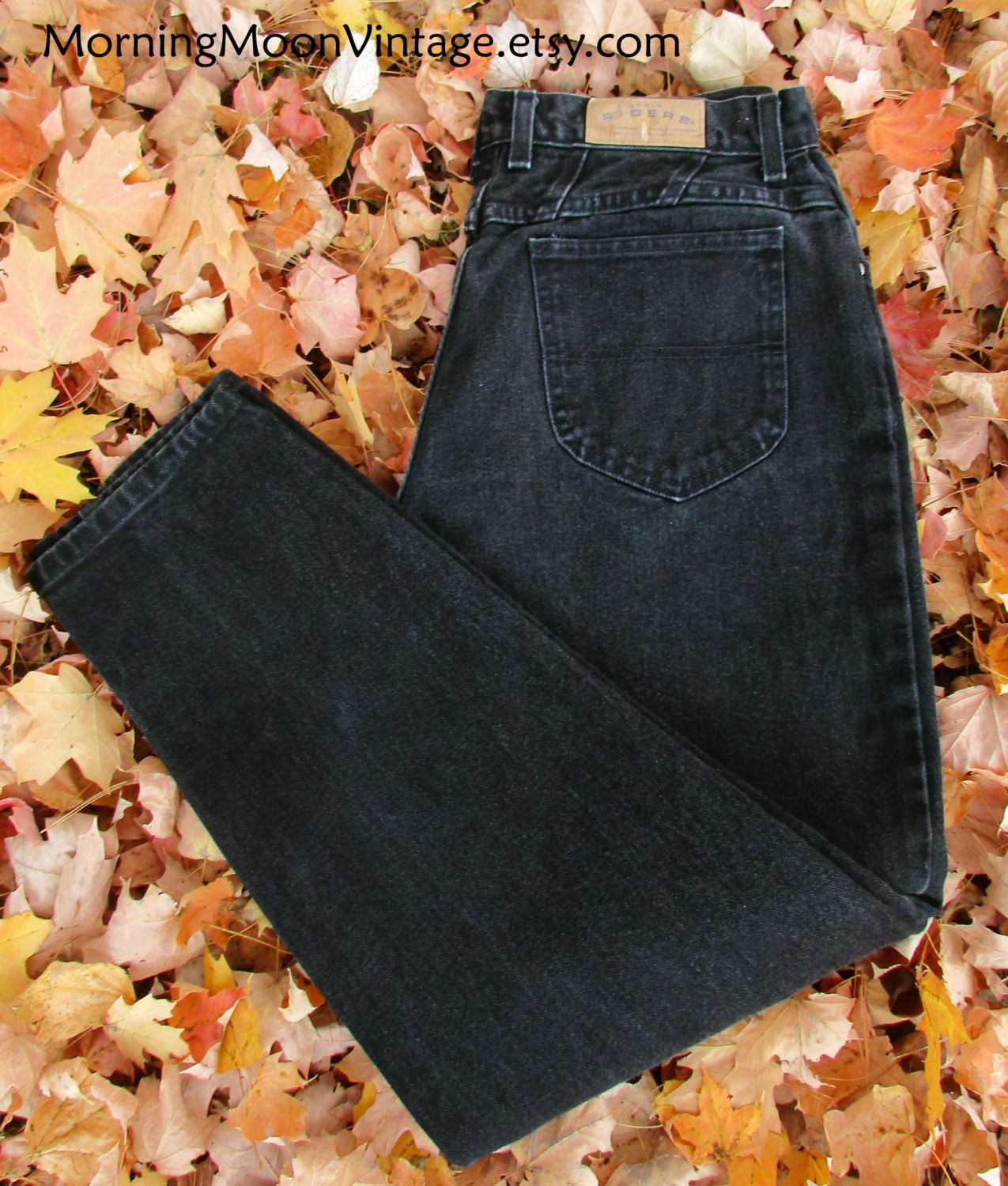 Black high waisted jeans lee