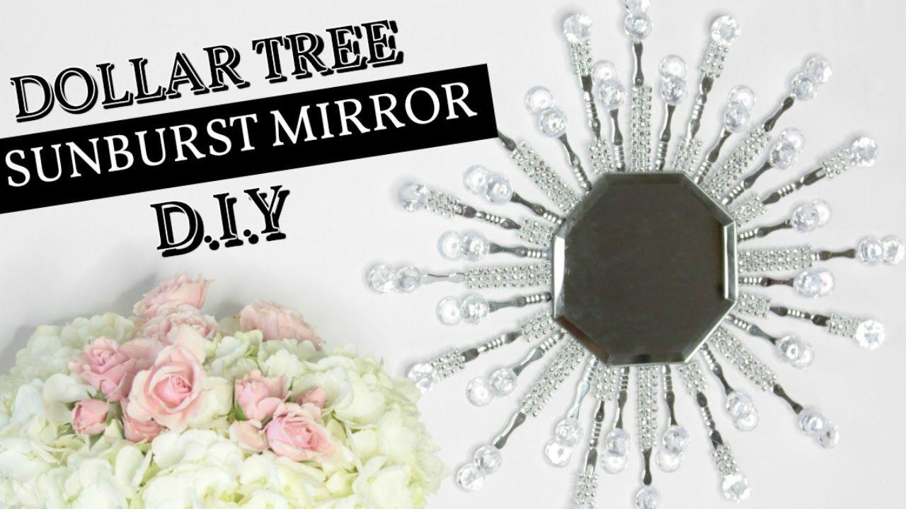 4 dollar tree sunburst glam mirror d i y youtube diy for Dollar store mirror craft