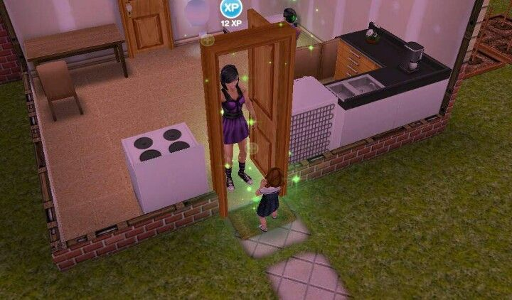 My sim and her child <3