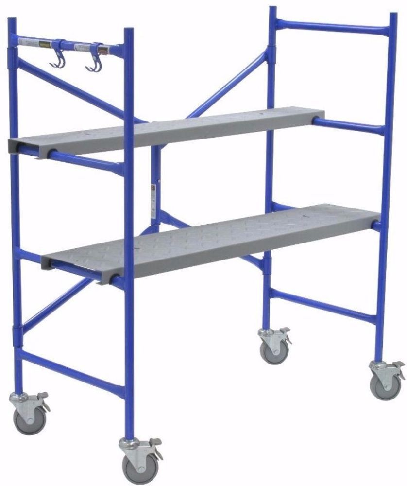 Portable Rolling Multipurpose Scaffold With Locking Wheels