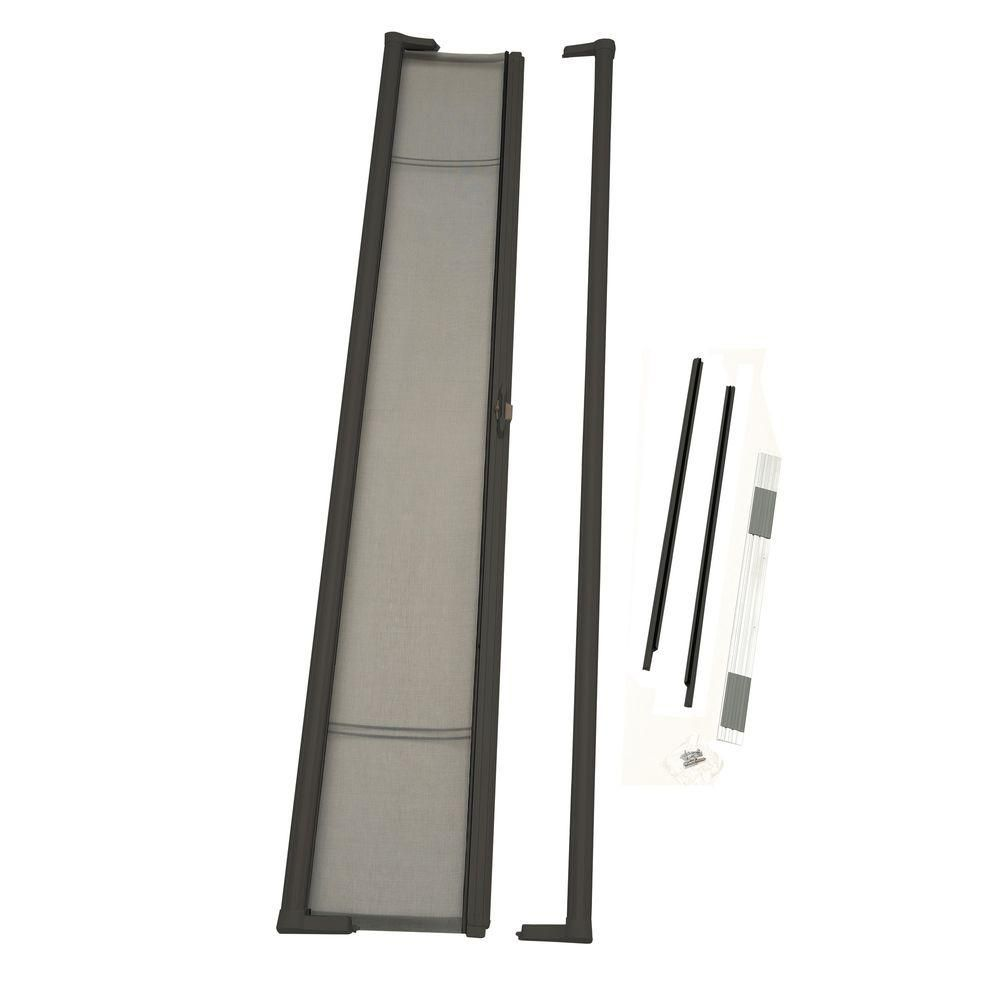 36 In X 96 In Brisa Brown Tall Retractable Screen Door 77010481 The Home Depot Retractable Screen Retractable Screen Door Screen Door