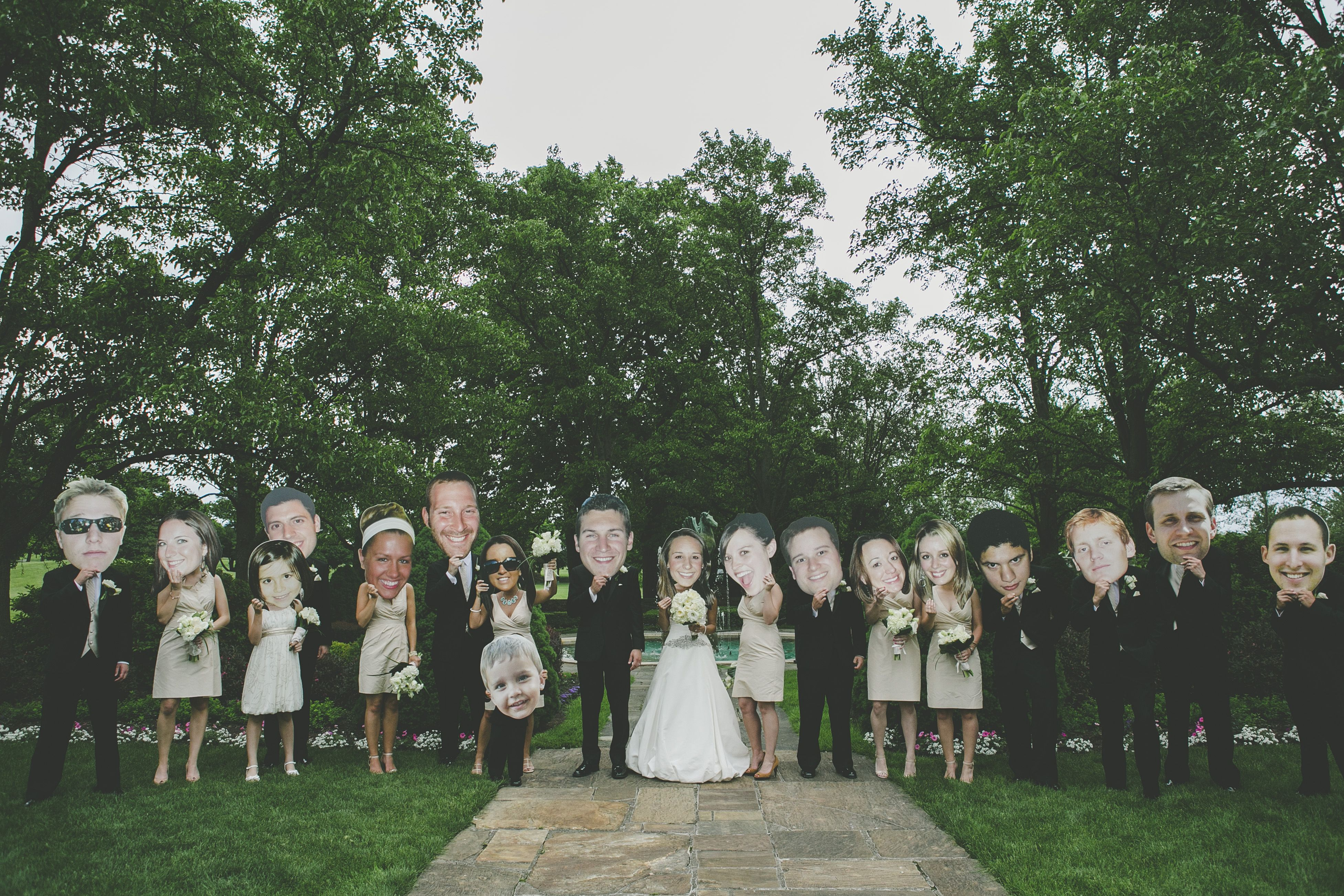 So funny! Print oversized cutouts of your bridal party members for some memorable photo ops.