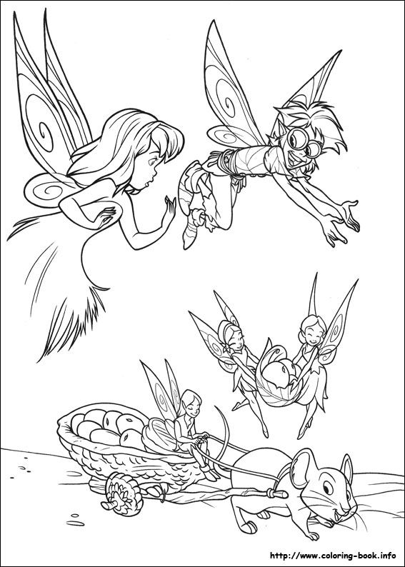 Tinkerbell coloring picture | Disney\'s Fairies Coloring Fairies ...