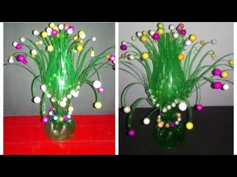 Easy Diy Make Empty Plastic Bottle Vase Making Craft Water Bottle