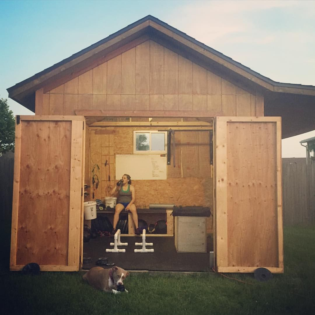 Beautiful Backyard Shed Gym