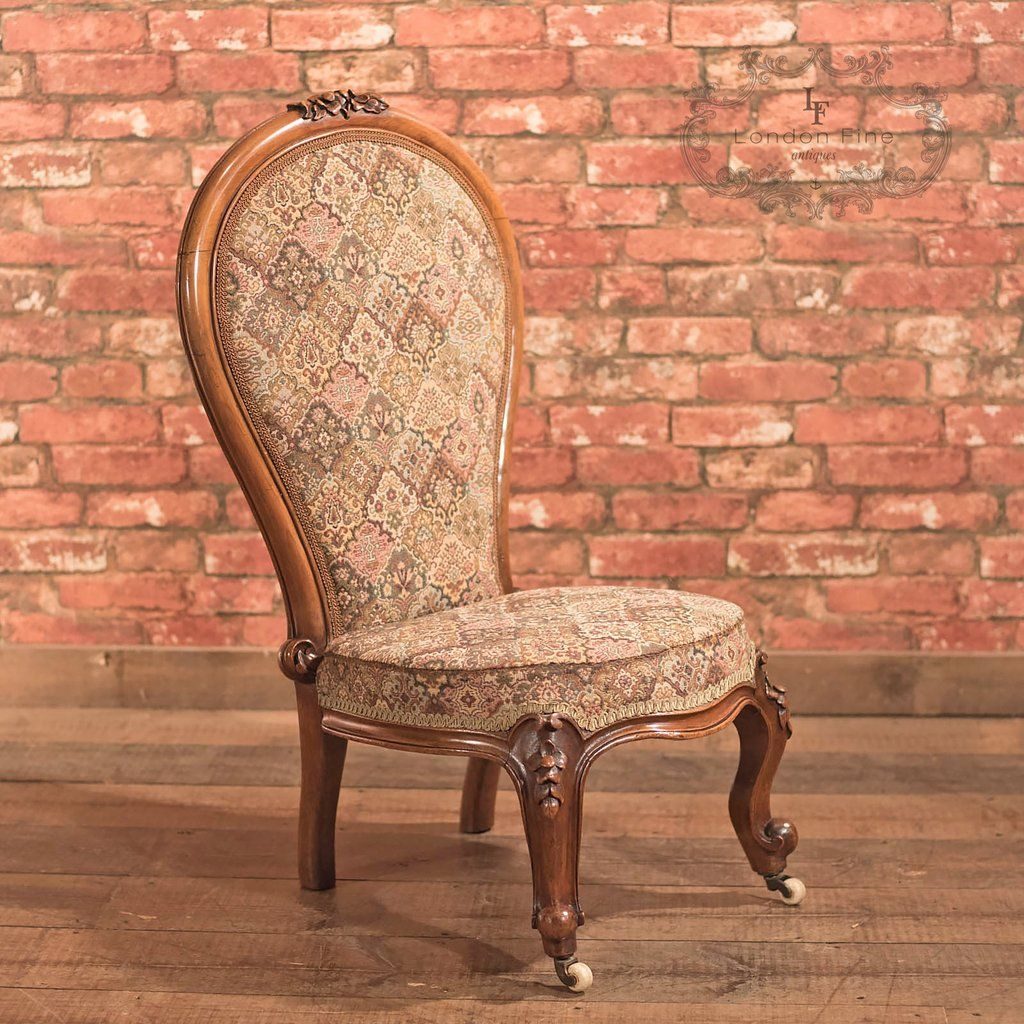 This is a Regency, antique nursing chair dating to The quality walnut frame  glows in warm honey hues with depth in the aged patina and tonal qualities  of ... - Antique Nursing Chair, English Regency C1820 Antique Chairs And
