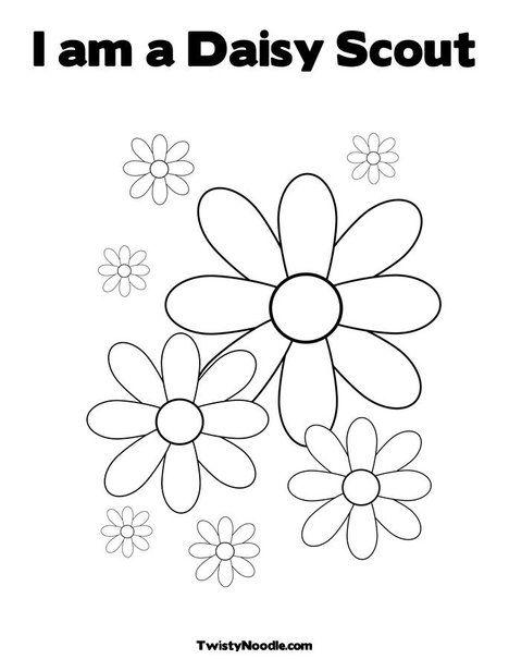I am a Daisy Scout | daisy gs | Flores, Dibujos, Niños