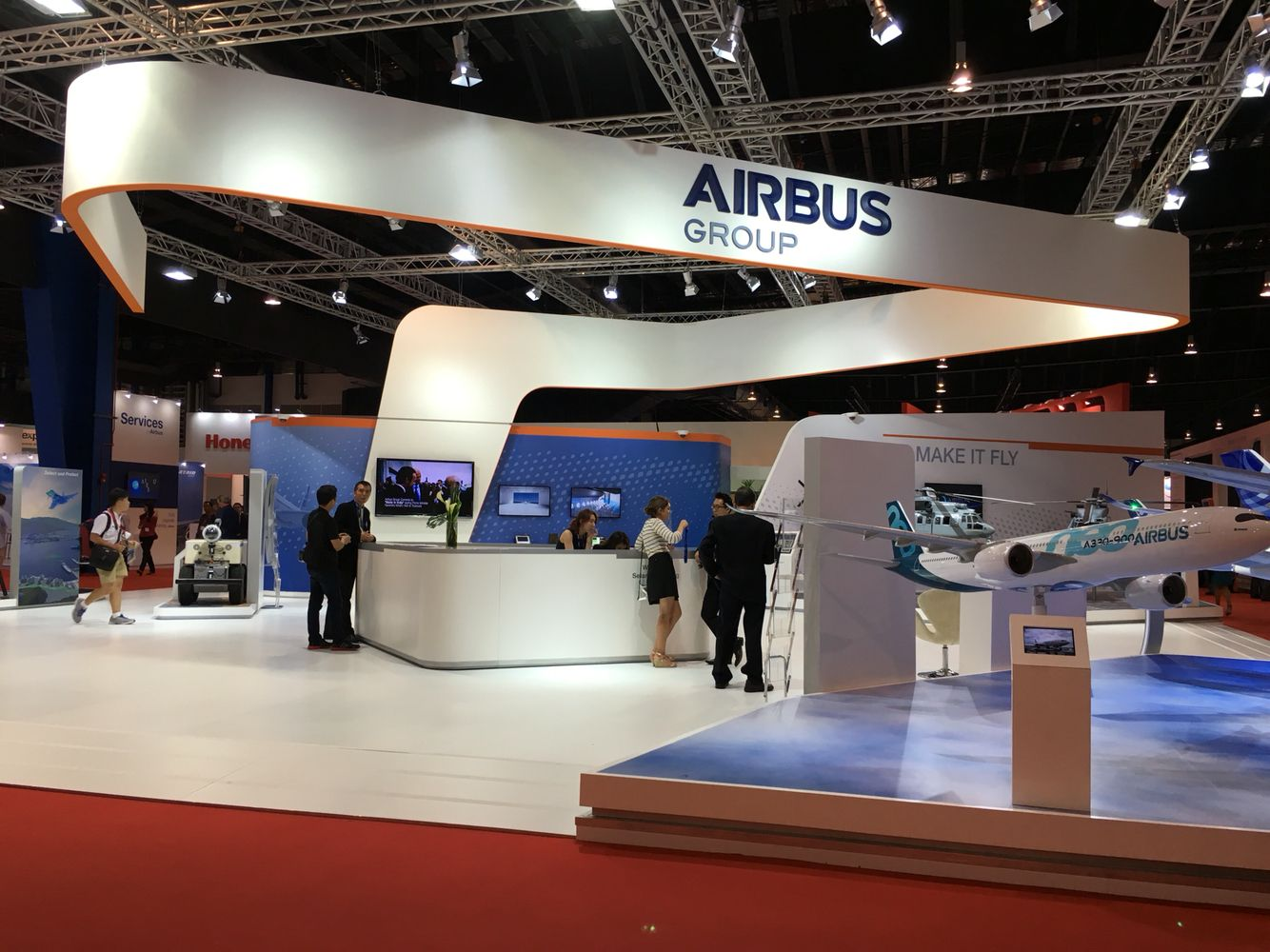 Exhibition Stand Design Singapore : Airbus stand exhibition pinterest booth