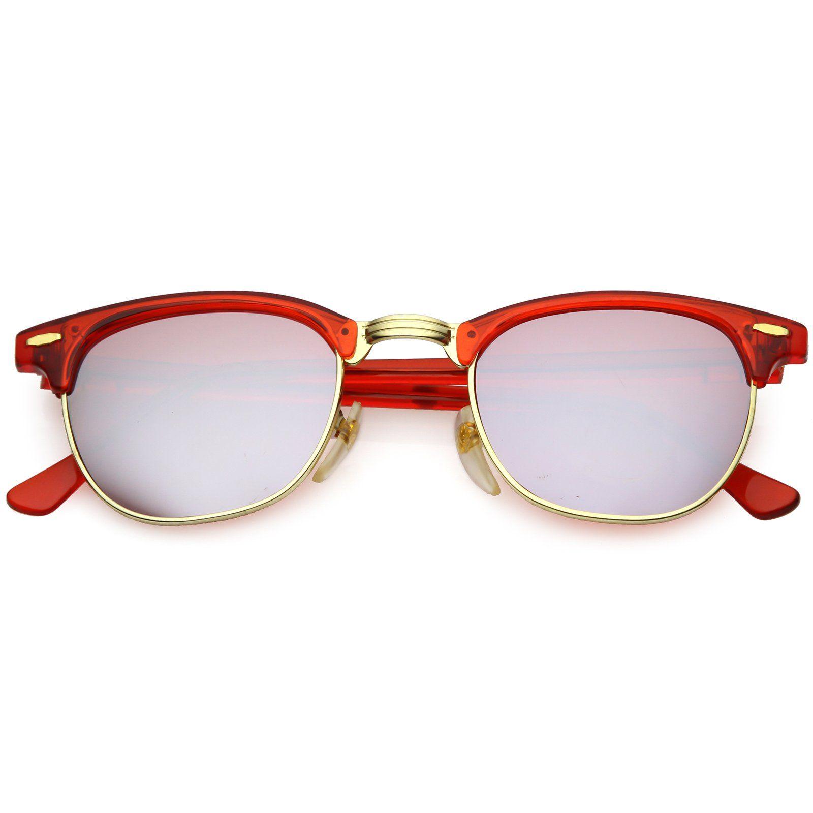 03e75822c3e True Vintage Oval Sunglasses Colored Mirror Lens 51mm in 2019 ...