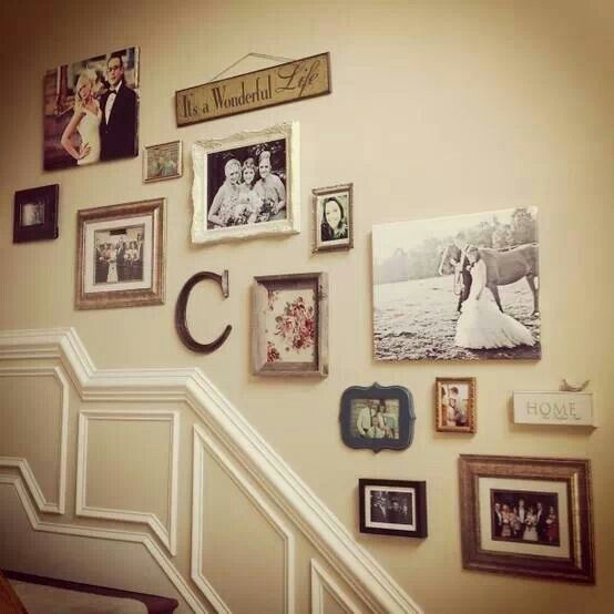 I like how it follows the upstairs -stair step look on the wall.