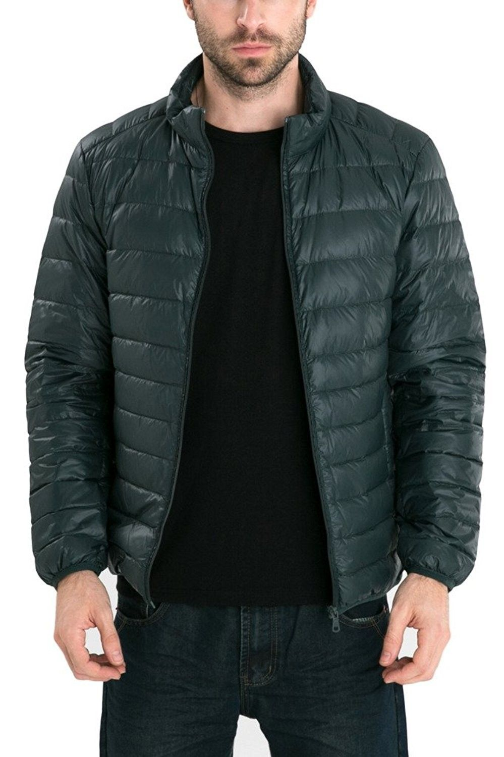 Men's Retro Lightweight Packable Down Puffer Coat Stylish