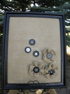 Burlap covered magnetic board AND MAGNETS!  Make without magnets, for displaying jewelry