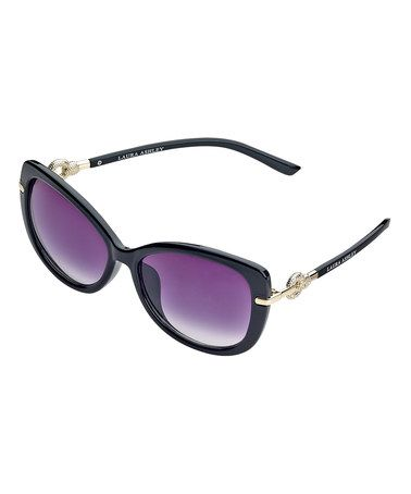 Another great find on #zulily! Black Crystal O-Link Sunglasses #zulilyfinds