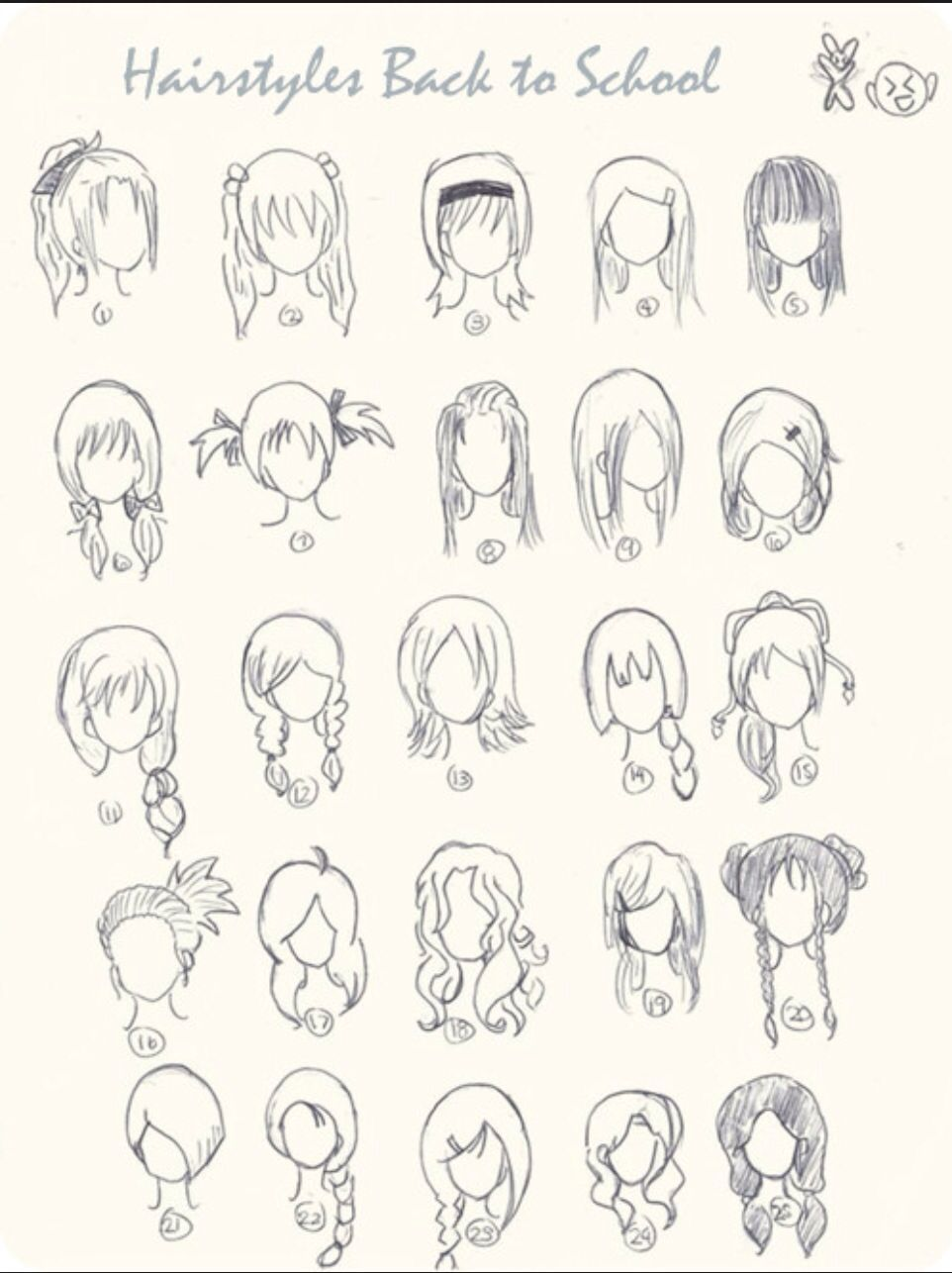 Girls Hairstyle Drawing Cute Simple Hairstyles Easy Drawings Girl Hair Drawing