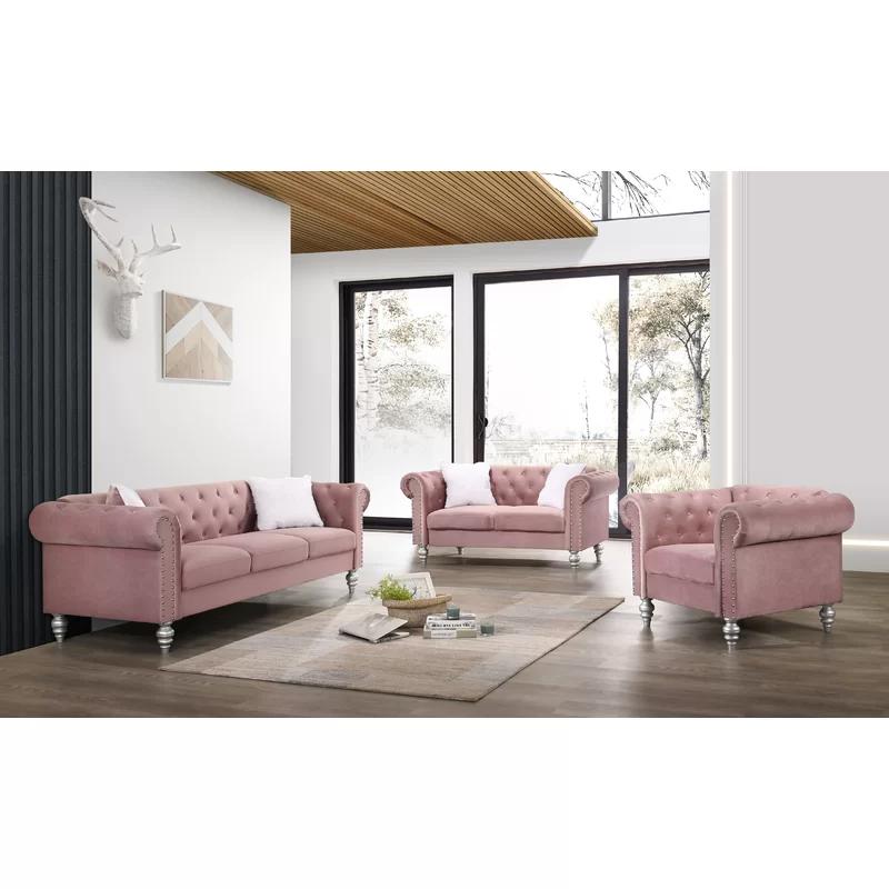Tena 3 Piece Living Room Set Living Room Sets 3 Piece Living Room Set Room Set