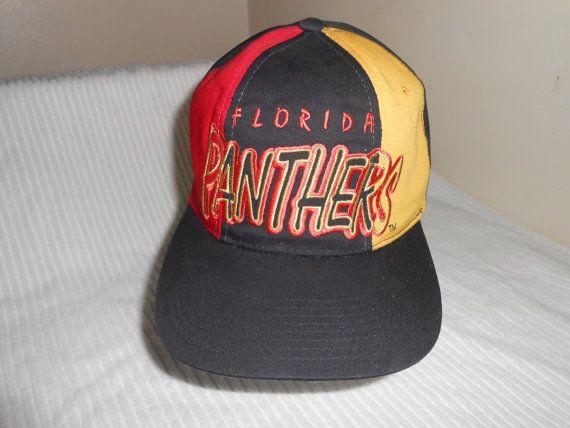 a732020719a33 Vintage 90s NHL Florida Panthers Starter Tri-Power Snapback Hat Cap